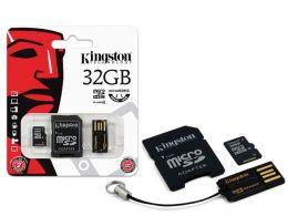 Cartao de Memoria Classe 4 Kingston MBLY4G2/32GB Multikit 32GB Micro SD + Adptador SD + Adptador USB