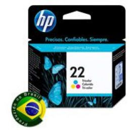 Cartucho HP 22 Jato de Tinta Tricolor 6ML - C9352AB