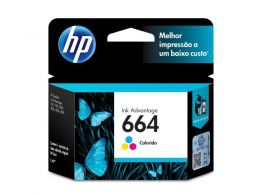 Cartucho HP 664 Jato de Tinta TRI-COLOR - F6V28AB