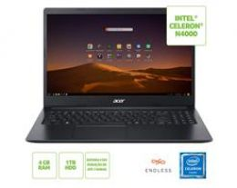 "Notebook ACER A315-34-C6ZS Celeron N4000 4GB 1TB 15,6"" Linux - NX.HRNAL.002"