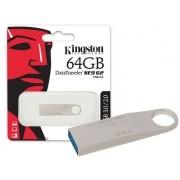 Pen Drive USB 3.0 Kingston DTSE9G2/64GB Datatraveler SE9 G2 64GB Prata