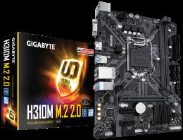 Placa Mae Gigabyte Micro ATX (1151) - DDR4 - H310M M.2 2.0- 8OGER