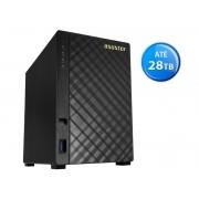 Sistema de Backup NAS Asustor AS1002T V2  Marvell  ARMADA 385 1.6 GHZ 512MB DDR3 Torre 2 Baias