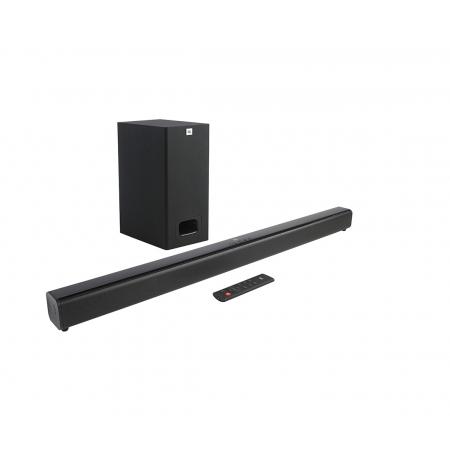 Soundbar JBL SB130 2.0 Canais com Bluetooth, Subwoofer com Fio, Potência Total 55W RMS, JBLSB130BLKBR Bivolt Preto