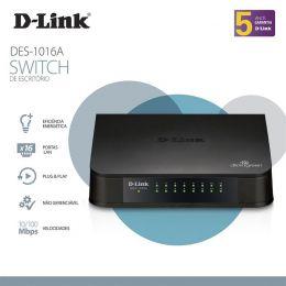 Switch D-LINK DES-1016A 16 Portas FAST-ETHERNET 10/100MBPS
