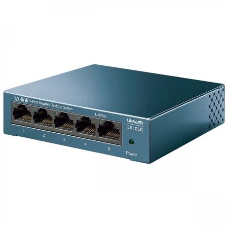 Switch Gigabit de Mesa com 5 Portas 10/100/1000 LS105G SMB