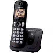 Telefone sem Fio DECT 6.0 1.9GHZ com Identificador de Chamadas, Viva VOZ KX-TGC210LBB Preto Panasonic