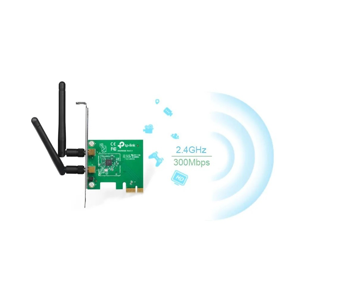 Adaptador Wireless PCI 300MBPS WRLS(2 4GHZ ) PCI PN:TL-WN881ND  TP-LINK