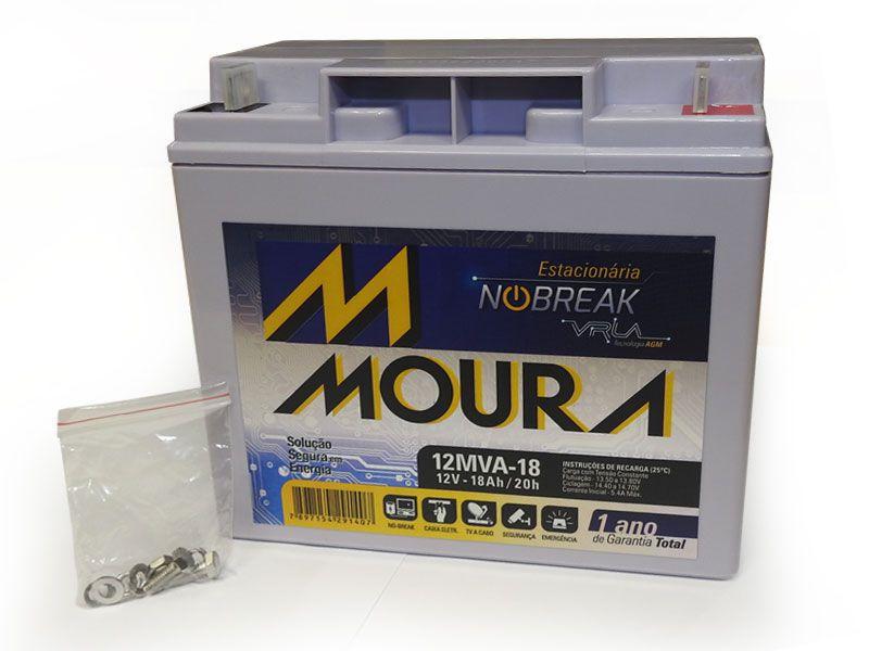 Bateria Moura Centrium ENERGY 12MVA-18 Estacionaria Nobreak 12V 18AH