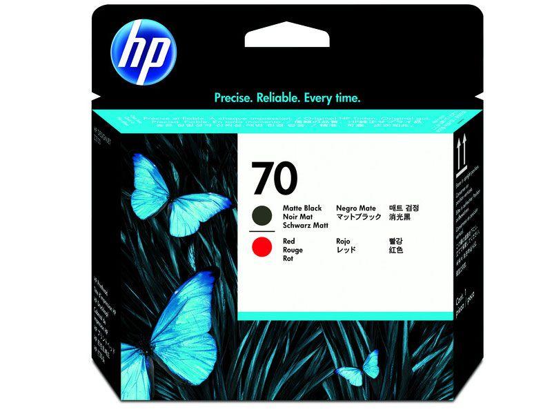 Cabeca de Impressao Plotter  HP Suprimentos C9409A HP 70 Preto Fosco e Vermelho