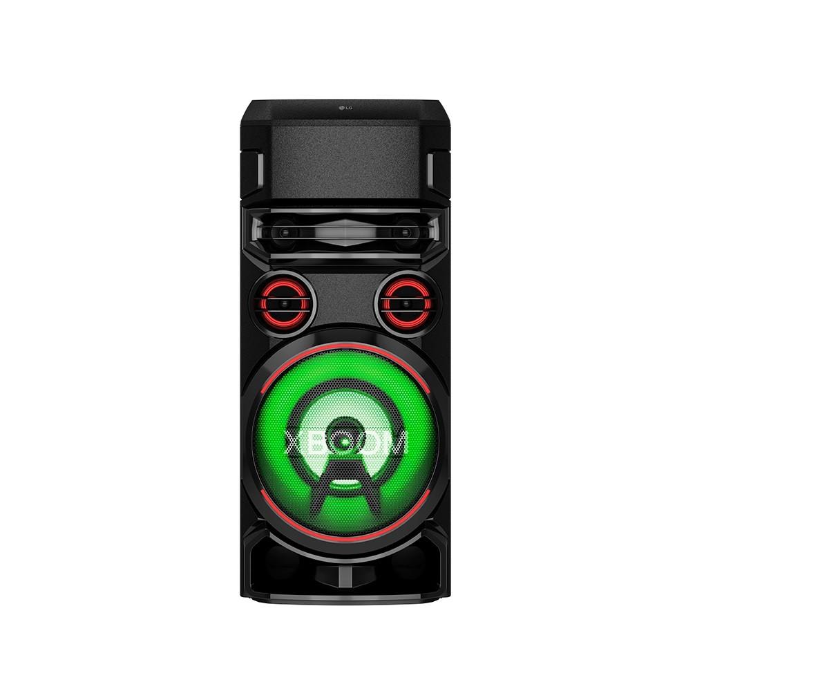 Caixa de Som Acústica LG Xboom RN7 Multi Bluetooth, Super Graves, Entrada de Microfone e Guitarra Preto
