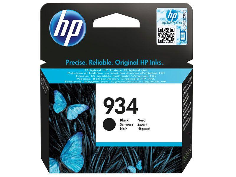 Cartucho de Tinta Officejet HP Suprimentos C2P19AB HP 934 Preto 10 ML