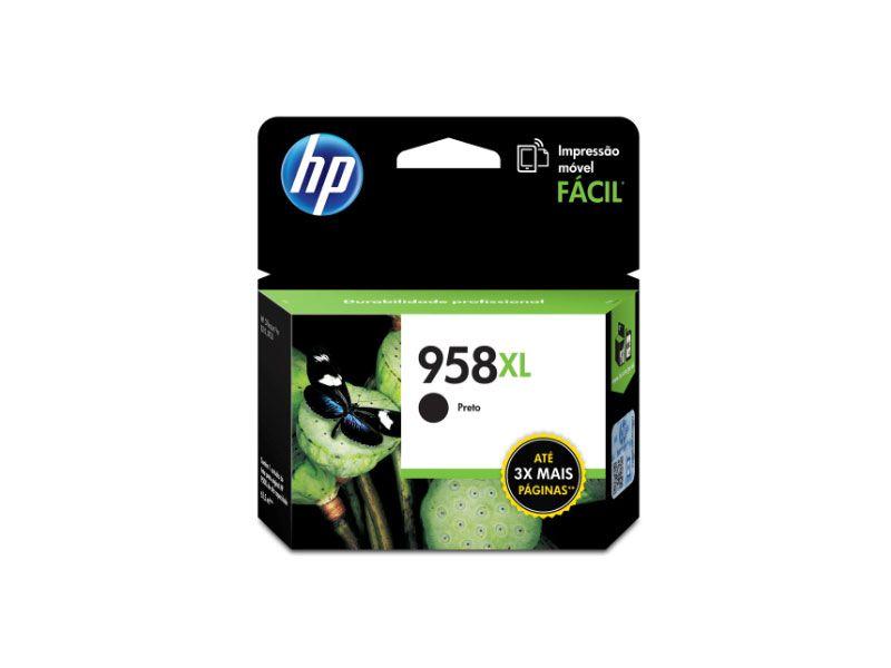 Cartucho de Tinta Officejet HP Suprimentos L0R41AL HP 958XL Preto 63,5 ML