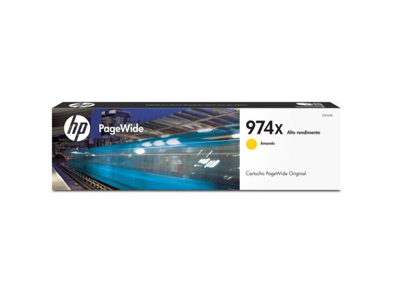 Cartucho de Tinta Officejet HP Suprimentos L0S05AL HP 974X Amarelo 86 ML