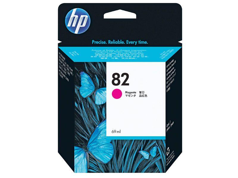 Cartucho de Tinta Plotter  HP Suprimentos C4912AB HP 82 Magenta 69 ML