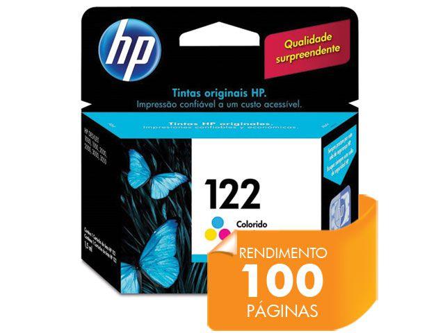 Cartucho HP 122 Jato de Tinta Tricolor 2ML - CH562HB