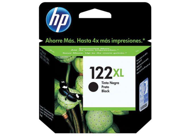 Cartucho HP 122XL Jato de Tinta Preto 8,8ML- CH563HB