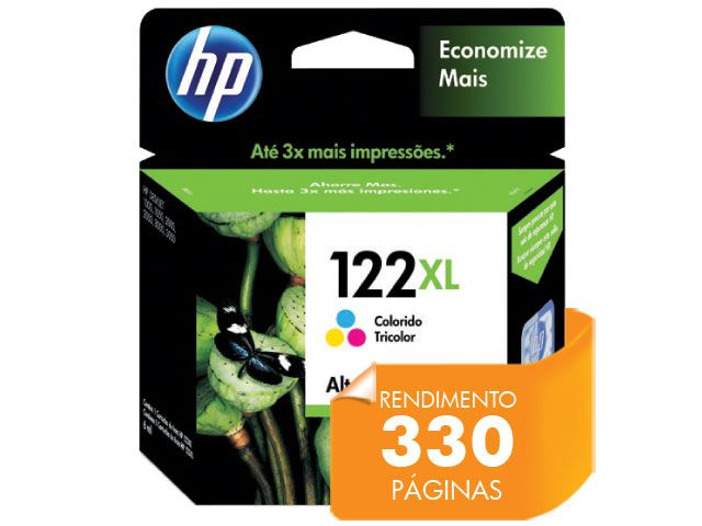Cartucho HP 122XL Jato de Tinta Tricolor 7,5ML - CH564HB