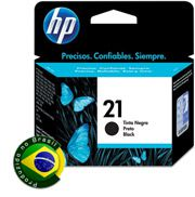 Cartucho HP 21 Jato de Tinta Preto 7ML - C9351AB
