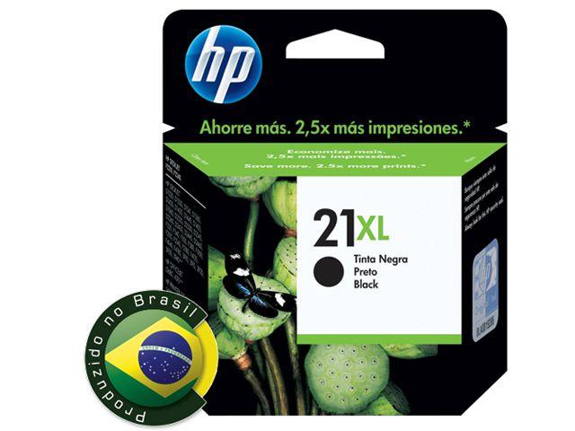 Cartucho HP 21XL Jato de Tinta Preto 16ML - C9351CB