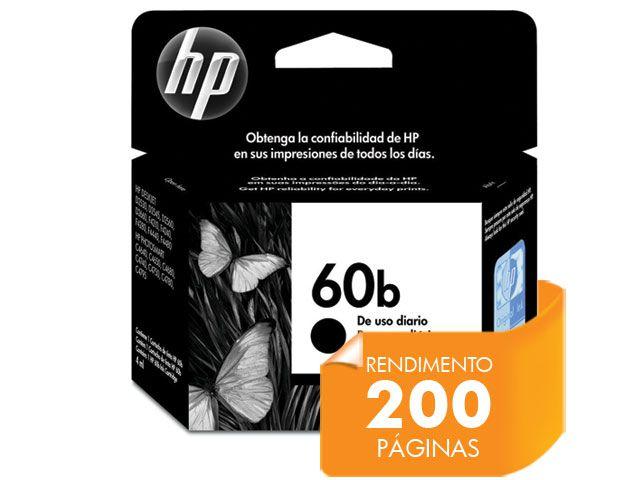 Cartucho HP 60B Everyday Jato de Tinta Preto 4,5ML - CC636WB