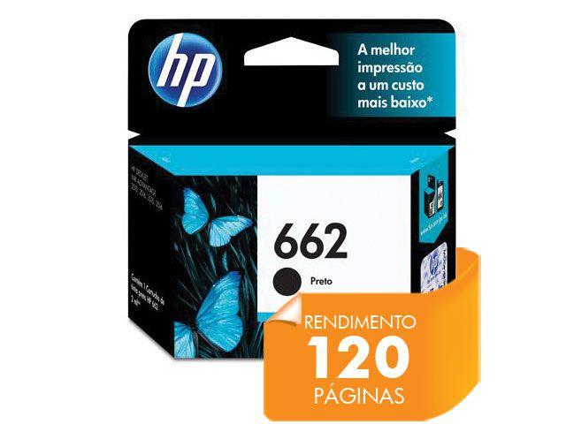 Cartucho HP 662 Preto 2ML - CZ103AB