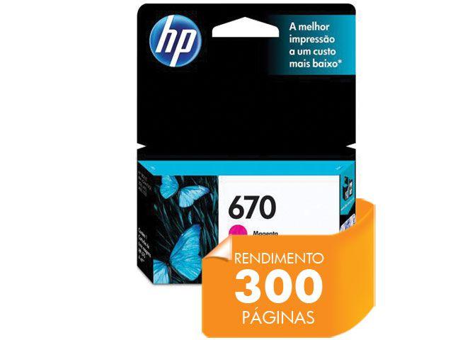 Cartucho HP 670 Magenta 4ML - CZ115AB