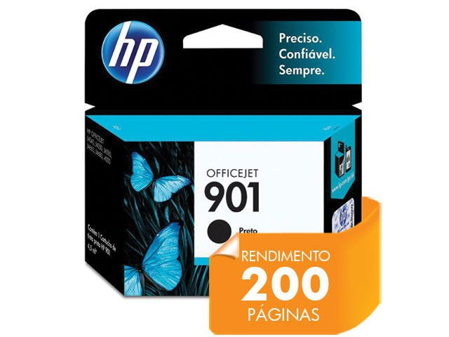 Cartucho HP 901 Officejet Jato de Tinta Preto 4,5ML - CC653AB