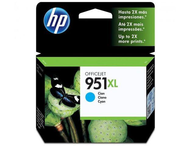 Cartucho HP 951XL Jato de Tinta Ciano 17ML - CN046AB