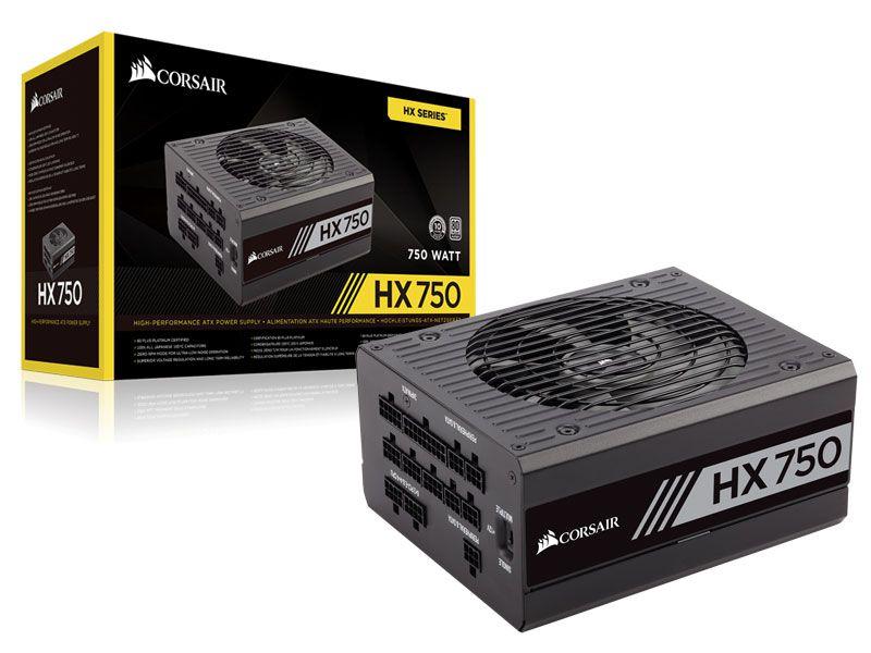 Fonte 80PLUS Platinum Corsair CP-9020137-WW HX 750W ATX PFC Ativo Modular S/CABO de Forca
