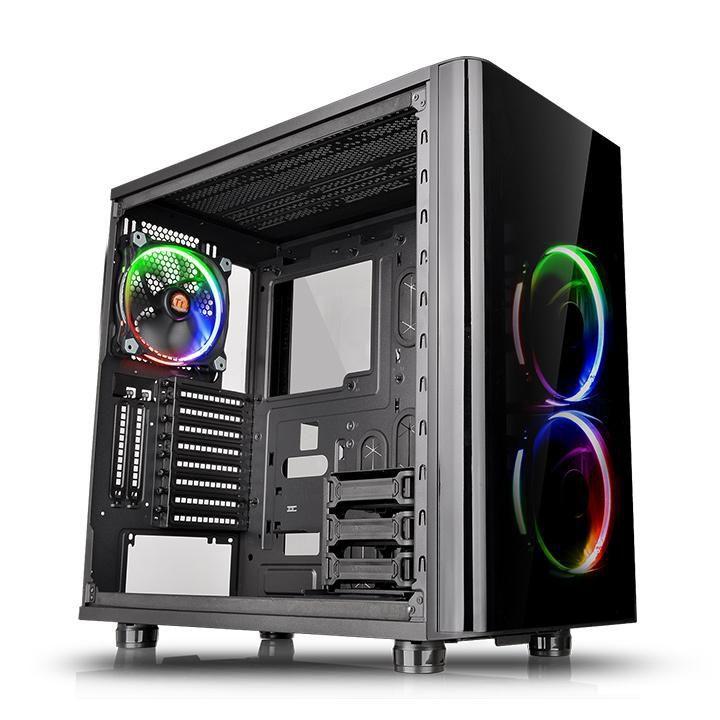 Gabinete TT View 31 RGB BLACK WIN Tempered GLASS X 2 CA-1H8-00M1WN-01