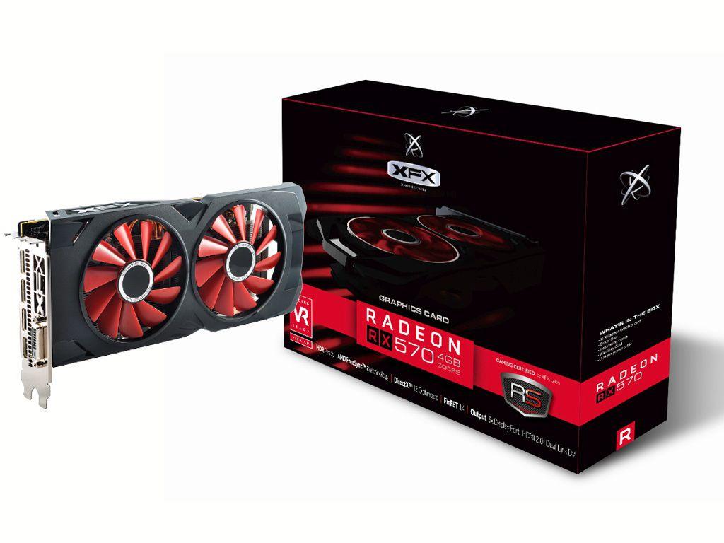 Gpu RX 570 4GB RS XXX ED OC+ DDR5 1284MHZ XFX RX-570P4DFD6