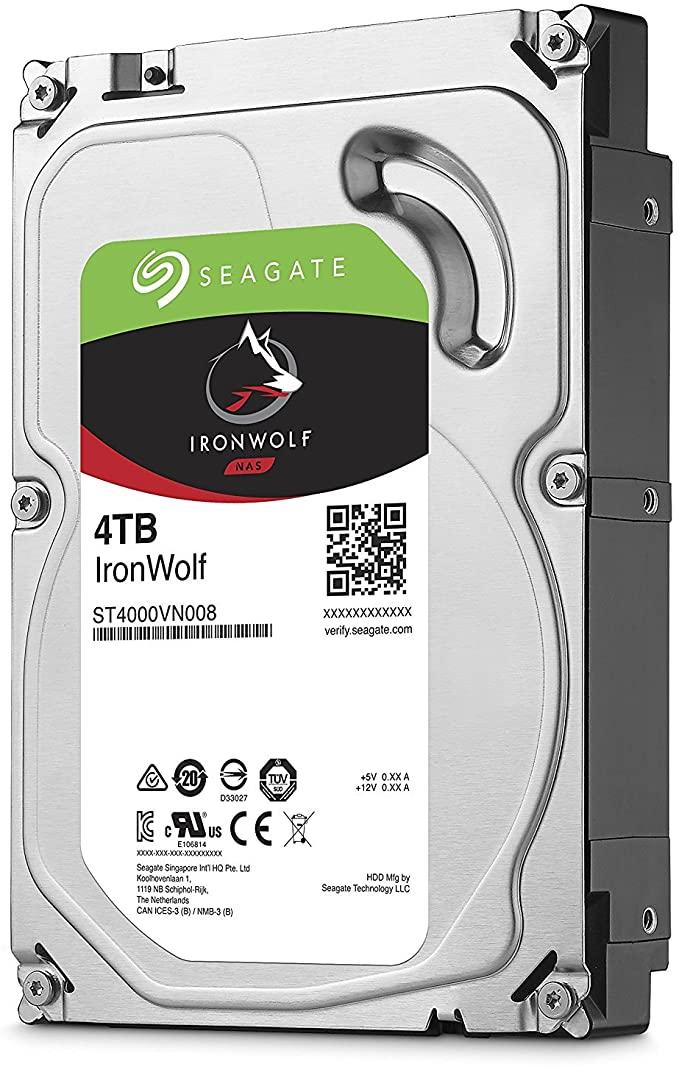 HD Interno Seagate NAS Ironwolf 4TB SATA 64MB 3.5 5900RPM (ST4000VN008)