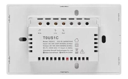 Interruptor Sonoff 01 BOTAO-TOUCH Wifi T0US1C Google Home Alexa