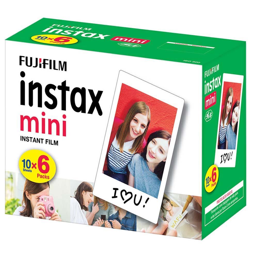 Kit Filme INSTAX Mini 60 Fotos Fujifilm