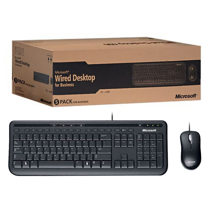 Kit Teclado e Mouse Wired Desktop 600 FOR Business Preto 3J2-00006