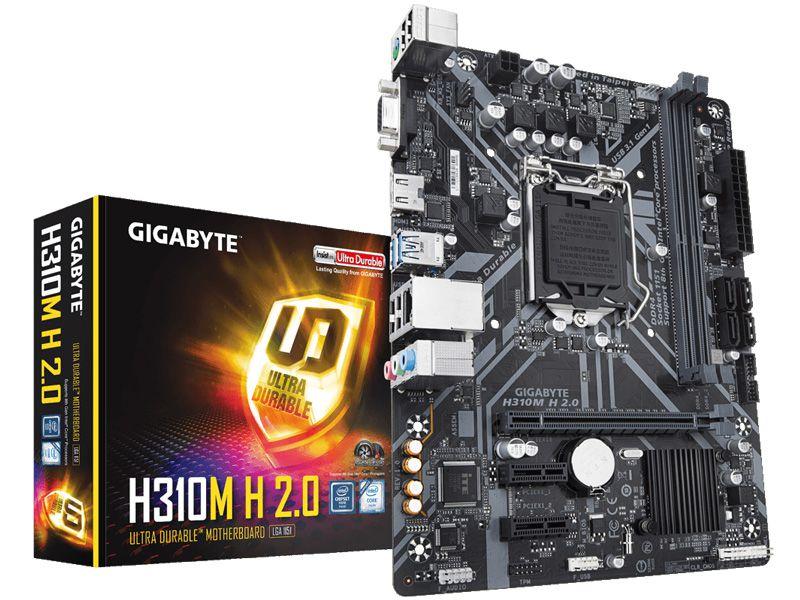 MB P/INTEL, LGA1151 8A Geracao, Chipset H310, 32GB, 2 DDR4, 1PCI-E X16, 1HDMI, USB, Micro ATX