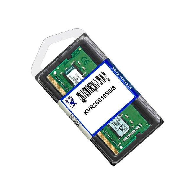 Memória Sodimm 8GB DDR4 2666MHZ Kingston - para Notebook - 1.2V - KVR26S19S8/8