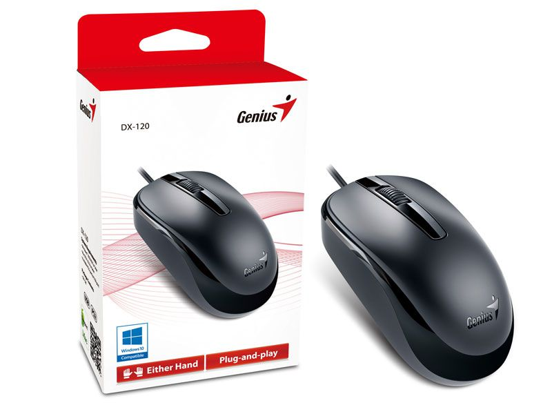 Mouse Genius Wired DX120 USB Preto - 31010105100