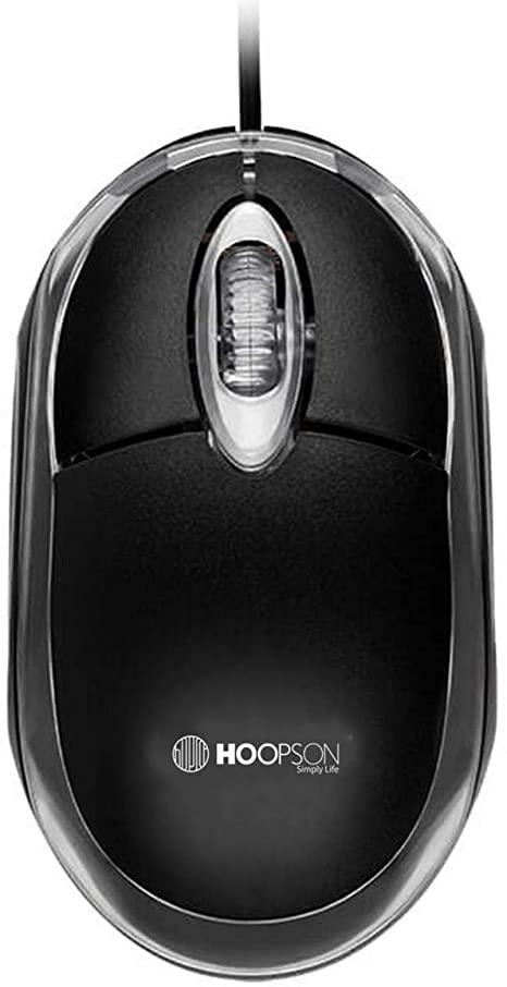 Mouse Optico Office Preto Hoopson USB 1000DPI - MS 035