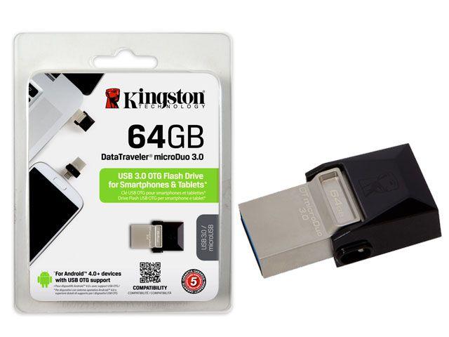 Pen Drive Kingston 64GB USB Dtduo Data Traveler Micro DTDUO3/64