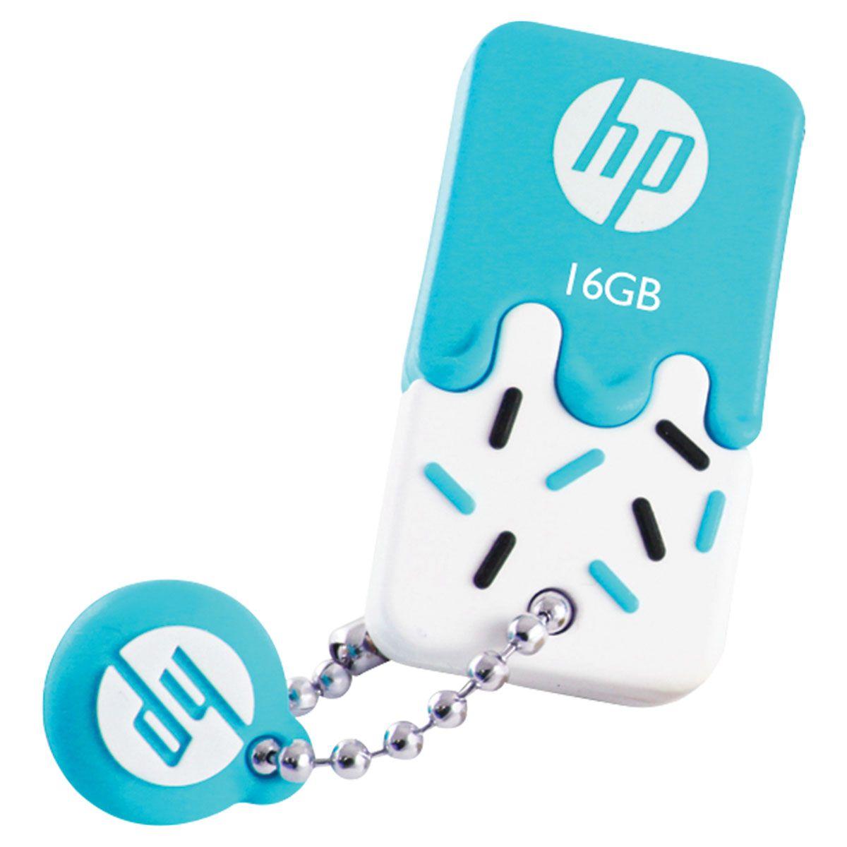 Pen Drive Mini HP USB 2.0 V178B 16GB AZUL HPFD178B-16