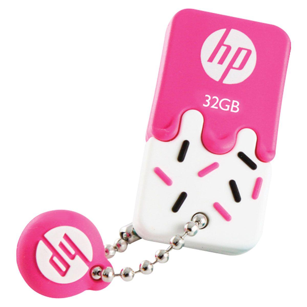 Pen Drive Mini HP USB 2.0 V178P 32GB PINK HPFD178P-32