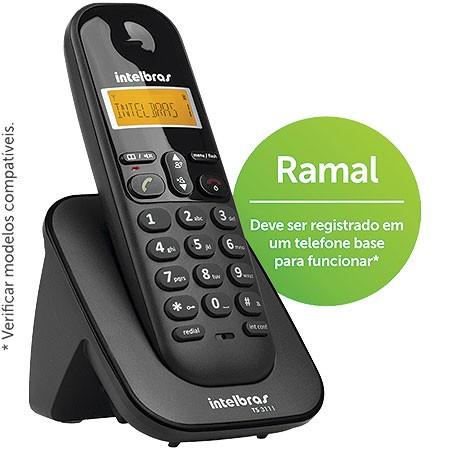 Ramal sem Fio Digital com Identificador TS3111 Preto Intelbras 4123111