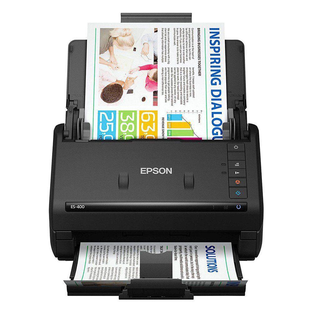 Scanner EPSON Colorido de Documentos Workforce ES-400 - B11B226201