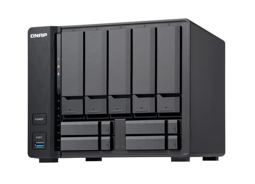 Servidor de Dados NAS ARM Cortex Alpine AL-324 QUAD-CORE 1.7GHZ 2GB DDR4 - (5+4)BAIAS sem Disco - TS-932X-2G QNAP