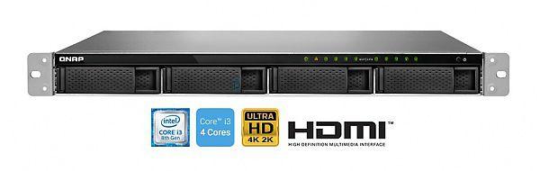 Servidor de Dados NAS INTEL Core I3-8100 Quadcore 3.6 GHZ 4GB DDR4 Fonte Redundante - TVS-972XU-RP-I3-4G-US QNAP
