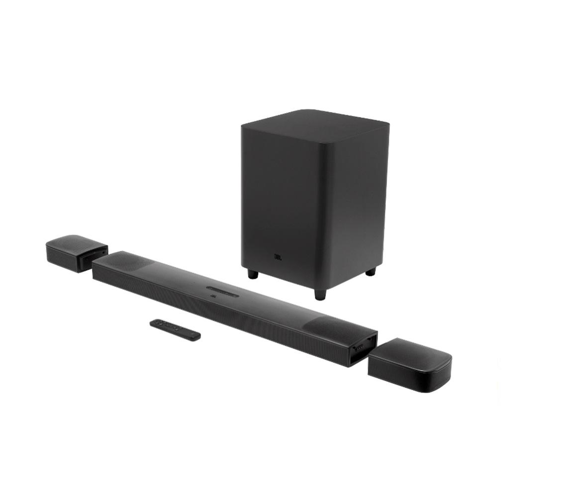 Soundbar JBL 9.1 True Wireless Surround com 5.1.4 Canais, DOLBY ATMOS 3D, Subwoofer sem Fio 10