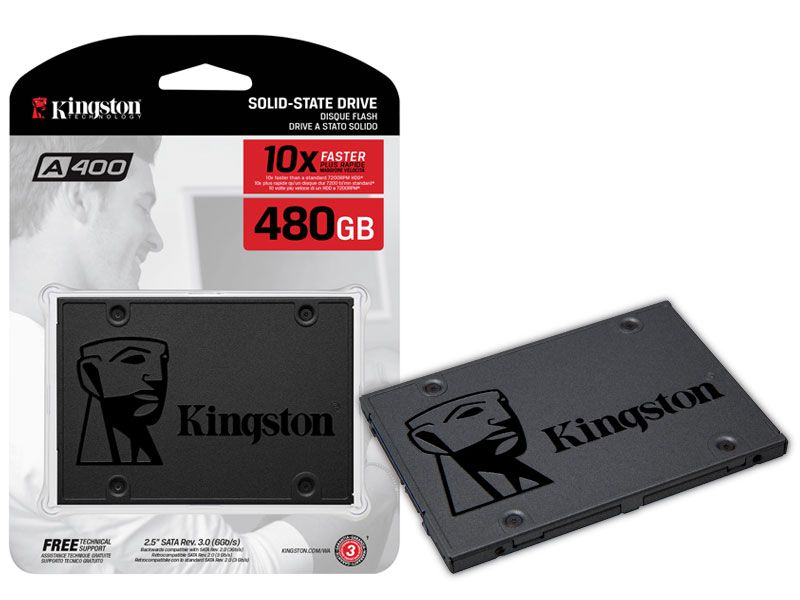 SSD Desktop Notebook Ultrabook Kingston SA400S37/480G A400 480GB 2.5
