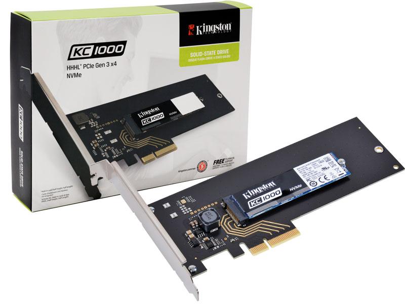 SSD Desktop Notebook Ultrabook Kingston SKC1000H/480G 480GB KC1000 M.2 HHHL Pcie GEN3X4 NVME